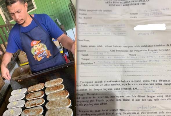 Jual burger depan tangga rumah, peniaga kecewa dikompaun RM50,000